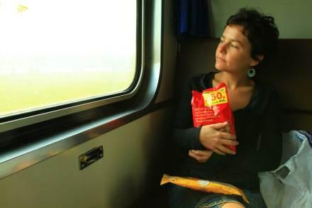 Quelys en el tren Bangkok Haytai